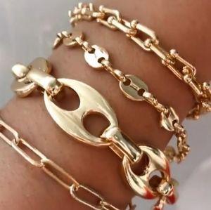 New 18k Gold Filled Gucci Anchor Link Bracelet
